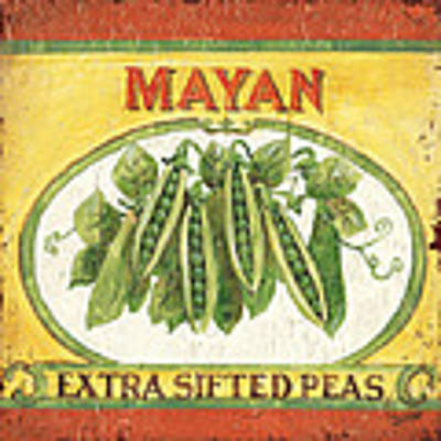 Mayan Peas Art Print