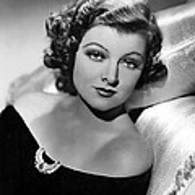 Myrna Loy By Clarence Sinclair Bull Art Print by Everett