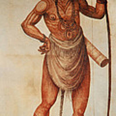 Native American Man C1590 Art Print