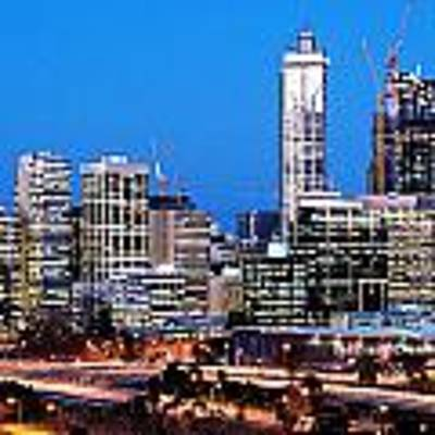 Perth City Night View From Kings Park Art Print by Yew Kwang