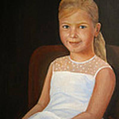Portrait Of A Girl Art Print by Katalin Luczay