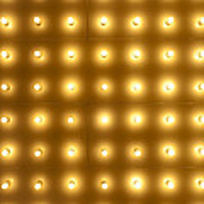 Theater Lights In Rows Art Print by Paul Velgos