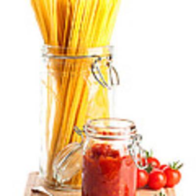 Tomatoes Sauce And  Spaghetti Pasta  Art Print
