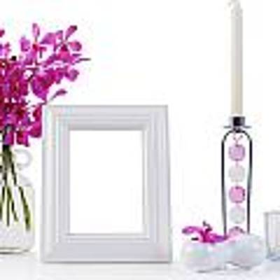 White Picture Frame In Decoration Art Print