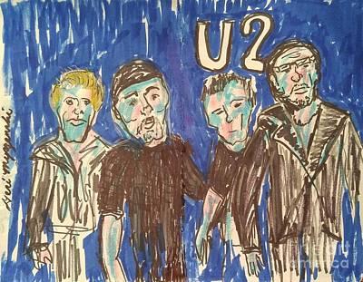 U2 Drawing -                       U2 by Geraldine Myszenski