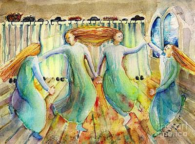 Painting -              Kabbalat Shabbat 1                                           by Chana Helen Rosenberg