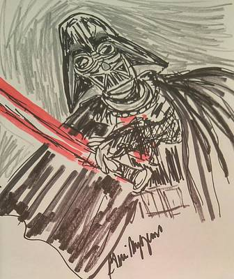 Scifi Drawing -            Darth Vader by Geraldine Myszenski