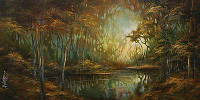 Moody Painting -  ' Eden ' by Michael Lang