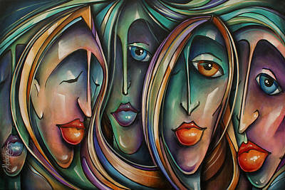 Animated Painting -  ' Masks' by Michael Lang