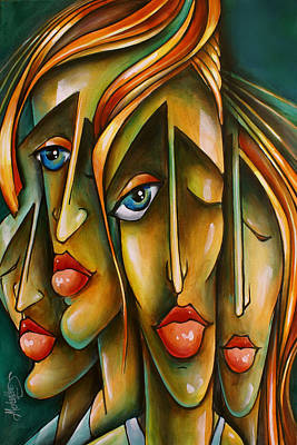 Moody Painting -  ' Pose ' by Michael Lang