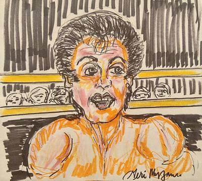 Sylvester Stallone Drawing -         Rocky Balboa by Geraldine Myszenski