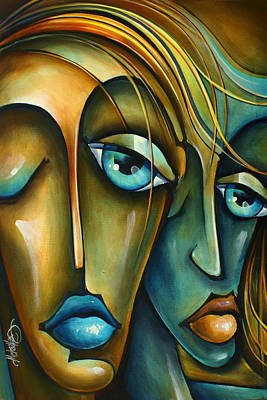 Mood Painting -  ' Sharing ' by Michael Lang