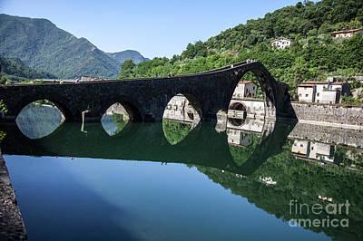 The Devil's Bridge - Borgo A Mozzano #1 Art Print by Richard Smukler