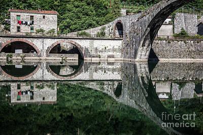 The Devil's Bridge - Borgo A Mozzano #4  Art Print by Richard Smukler