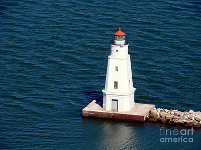 Photograph - -001 Ashland Breakwater Lighthouse by Bill Lang