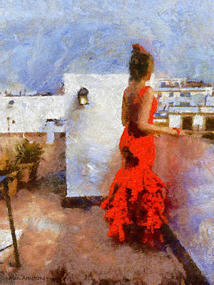 Andalusien Digital Art - # 11 Flamenco by Alan Armstrong