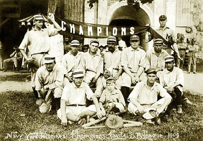 Photograph -  1909 Us Marine Baseball Champs by Historic Image