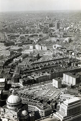 Photograph -  1965 Aerial View Of Boston No.1 by Historic Image