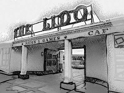 # 2 The Lido Worthing Uk Print by Alan Armstrong