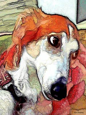 Pup Digital Art - # 21 Saluki Dog by Alan Armstrong