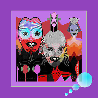 384 - Crazy Dollies Smiling Art Print