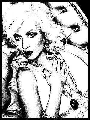 Christina Digital Art - # 4 Christina Aguilera Portrait by Alan Armstrong