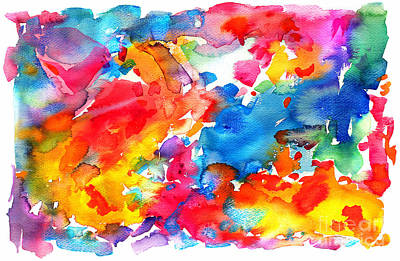 Painting - # 40 Watercolor Abs by Expressionistart studio Priscilla Batzell
