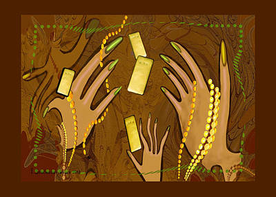 548 - Gold Fingers .... Art Print by Irmgard Schoendorf Welch