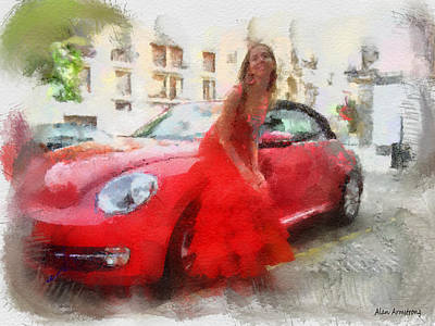 Andalusien Digital Art - # 58 Flamenco by Alan Armstrong