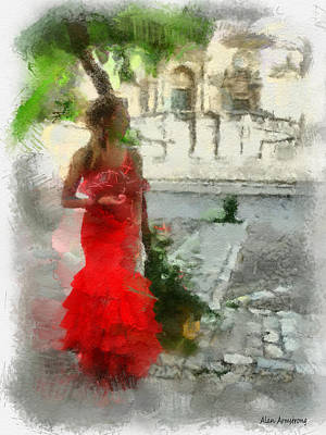 Andalusien Digital Art - # 59 Flamenco by Alan Armstrong