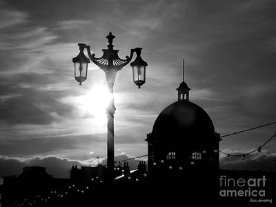 # 6 Worthing Skyline At Dusk Uk Art Print by Alan Armstrong