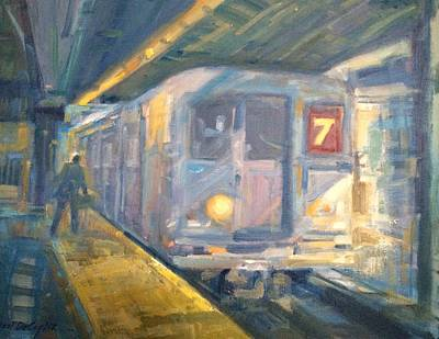 Painting - # 7 On Time by Bart DeCeglie