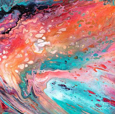 Painting - # 70 Pastel Pour  by Expressionistart studio Priscilla Batzell