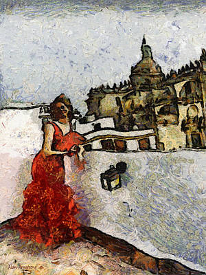 Andalusien Digital Art - # 71 Flamenco Tribute To Vincent by Alan Armstrong