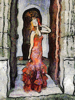 Andalusien Digital Art - # 72 Flamenco Tribute To Vincent by Alan Armstrong