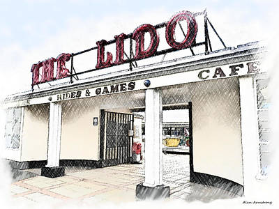 # 9 The Lido Worthing Uk Print by Alan Armstrong