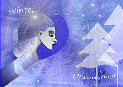 Christmas Cards Digital Art -  999 - Winter  Dreaming  Christmas Card by Irmgard Schoendorf Welch