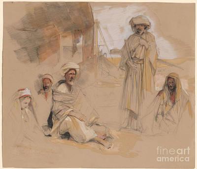 A Bedouin Encampment At Gebel Tor In The Sinai Desert Art Print