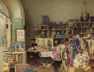 Desk Painting -  A Bit Of Rome by Benjamin Walter Spiers