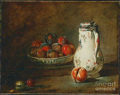 A Bowl Of Plums Print by Celestial Images