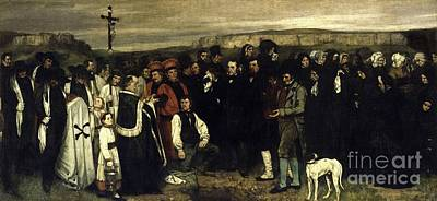 Painting -  A Burial At Ornans by Celestial Images