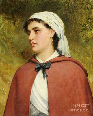 Charles Sillem Lidderdale Painting -  A Country Girl by MotionAge Designs