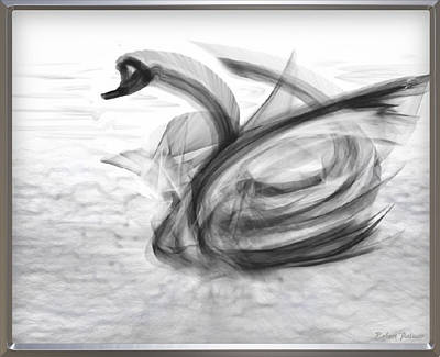 'a Fabric-ated Swan Melody ' Art Print
