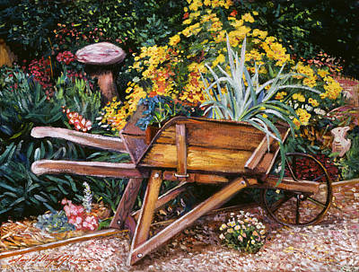 A Gardener's Helper Art Print by David Lloyd Glover