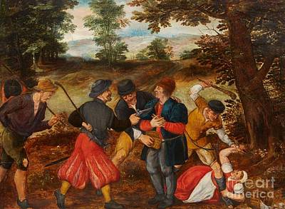 Flemish School Painting -  A Robbery On A Country Road by MotionAge Designs