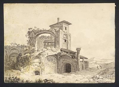 Villa Painting -  A Ruined Villa In The Campagna by MotionAge Designs