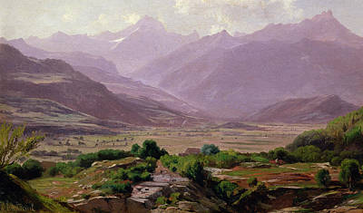 Mountain Valley Painting -  A Valley At Dawn by Antoine Chintreuil