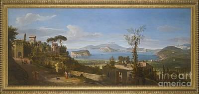 A View Of The Bay Of Pozzuoli, Near Art Print