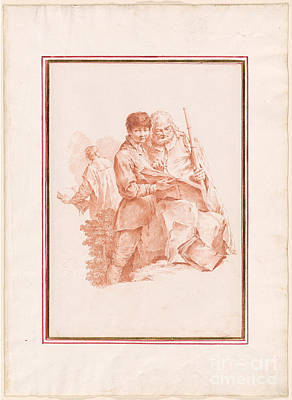 1754 Painting -  A Young Boy Holding A Book by MotionAge Designs