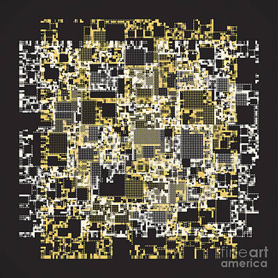 Matrix Code Digital Art -  Abstract Digital Scan Code  by Igor Kislev